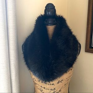 Accessories - Black Faux Fur Infinity Scarf/ Wrap